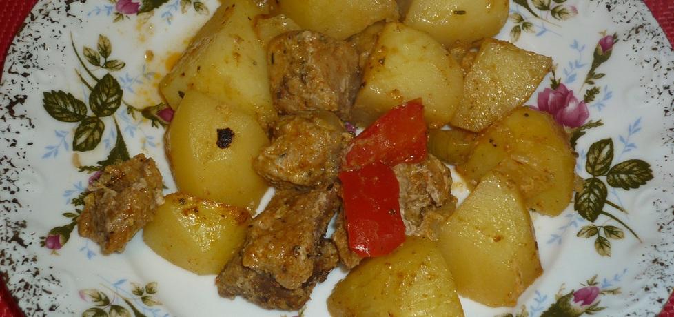Szynka z warzywami z piekarnika (autor: wafelek2601 ...