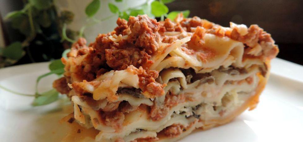 Lasagne z mięsem i pieczarkami (autor: goofy9)