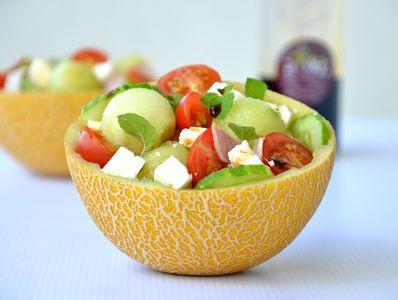 Sałatka z melonem i fetą