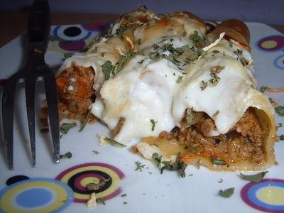 Zapiekane cannelloni z sosem bolońskim pod beszamelem ...