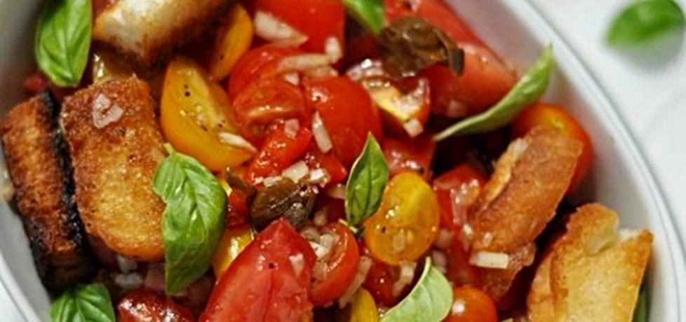 Toskańska sałatka pomidorowa z bagietką (autor: jolantaps ...