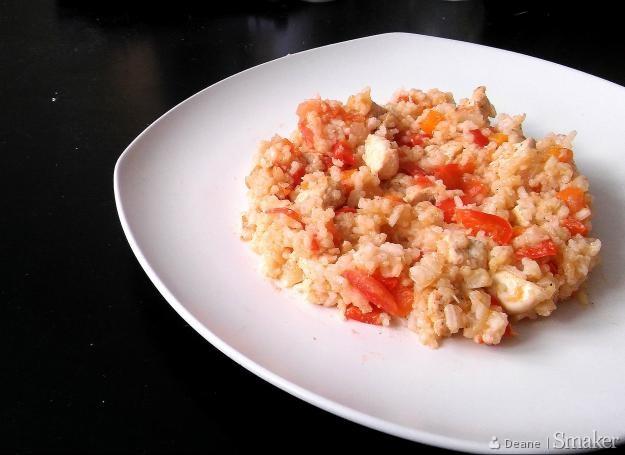 Słodko-kwaśne risotto z kurczakiem
