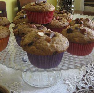 Muffiny kawowe najeżone bakaliami