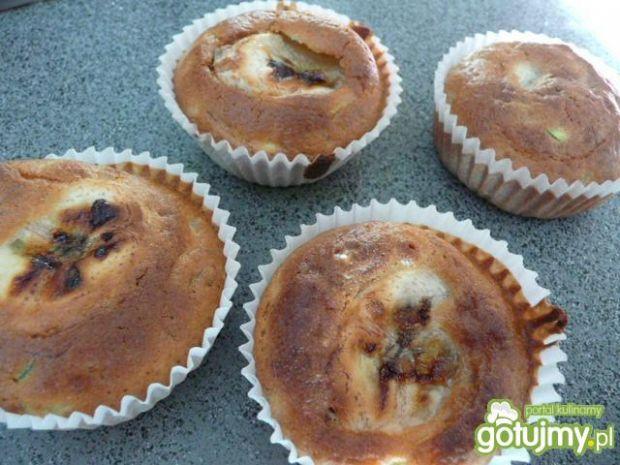 Przepis  muffinki z bananem i cukinią wg elfi przepis