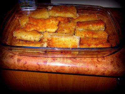 Krokiety z chleba tostowego z serem i szynką