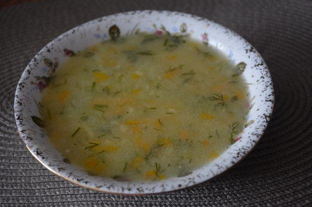 Przepis  zupa koperkowa z kaszą manną przepis