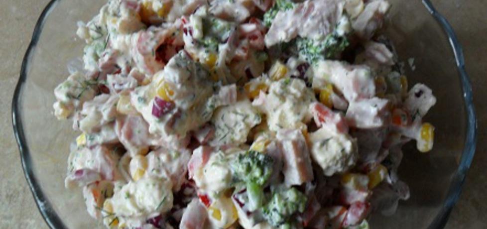 Sałatka z brokułem i białym serem (autor: motorek)