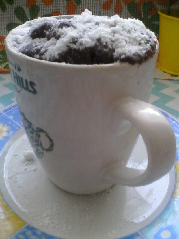 Przepis  kakaowa babeczka z kubeczka przepis