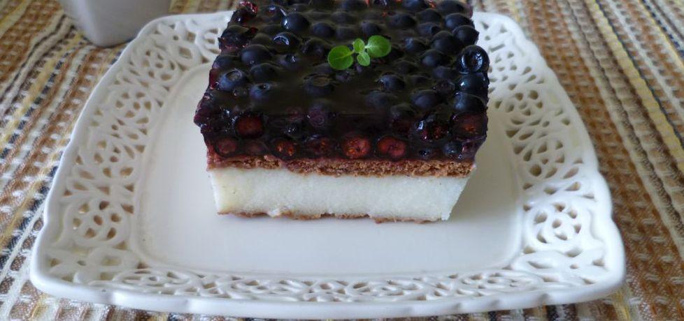 Ciasto z kaszy manny z jagodami (autor: krystyna32 ...