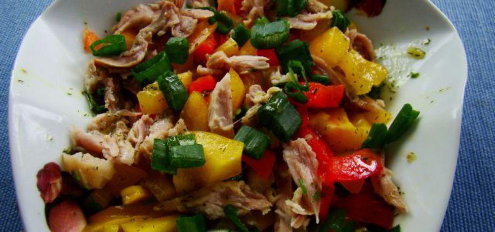 Kolorowa sałatka z schabem (autor: iwa643)