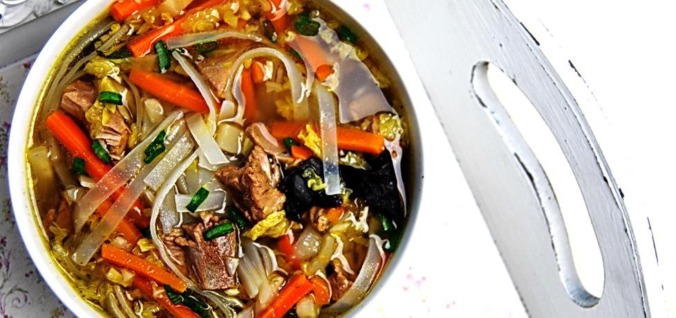 Rosół z kaczki z makaronem ryżowym (autor: rng