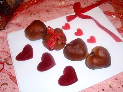 Pączki cynamonowe w kształcie serca