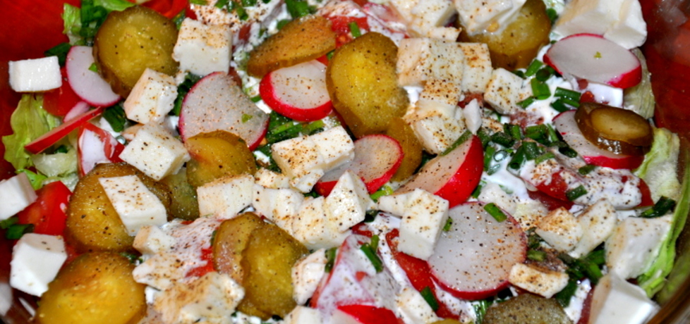 Sałatka z mozzarellą (autor: monika111)