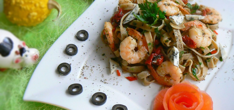 Tagliatelle z krewetkami i papryczką chili na ostro (autor: mysza75 ...