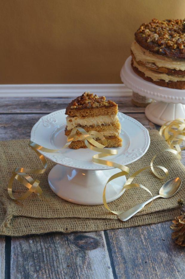 Przepis  ciasto miodowe z orzechami przepis