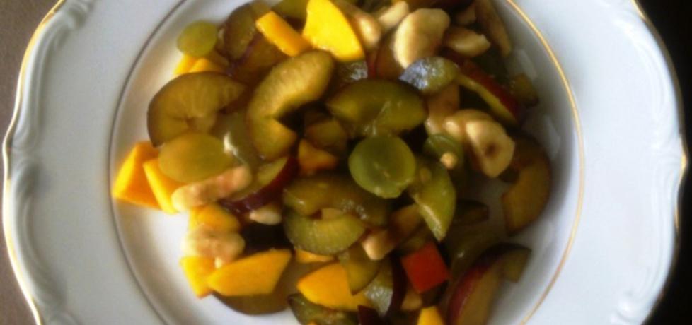 Sałatka owocowa w kolorach słonecznej jesieni (autor: granita ...