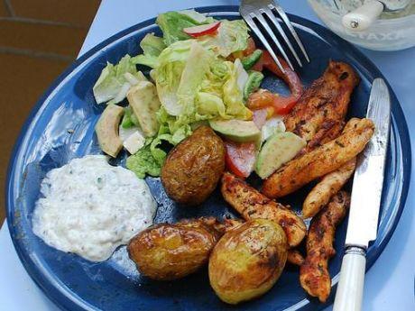 Przepis  pieczone ziemniaki z grilla przepis