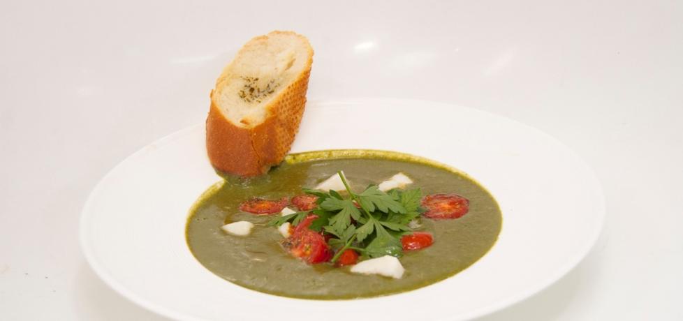 Przepis dnia iii, odc. 27: zupa krem ze szpinaku z serem owczym i ...