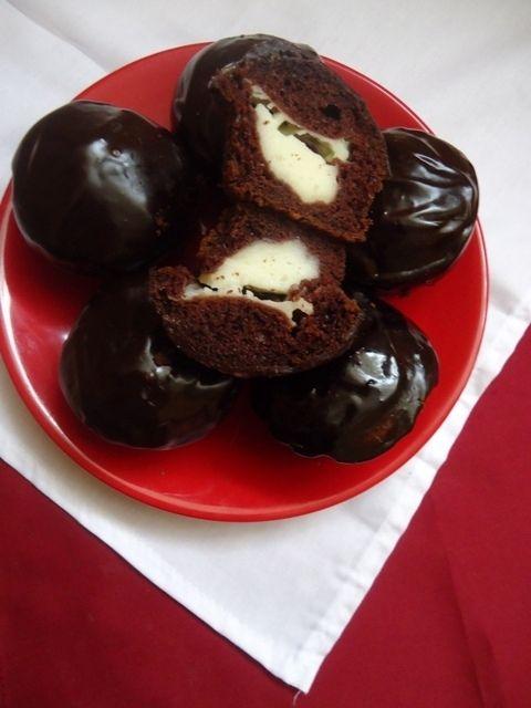 Przepis  muffinki czekoladowe z budyniem przepis