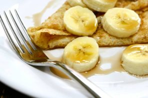 Naleśniki z bananami i twarożkiem