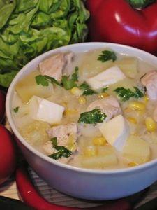 Zupa z kurczaka i sera