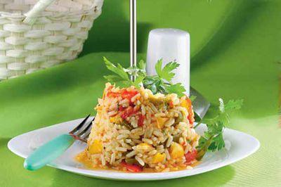 Potrawka z papryki i ryżu