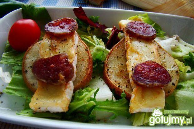 Przepis  grillowane gruszki z serem pleśniowym przepis