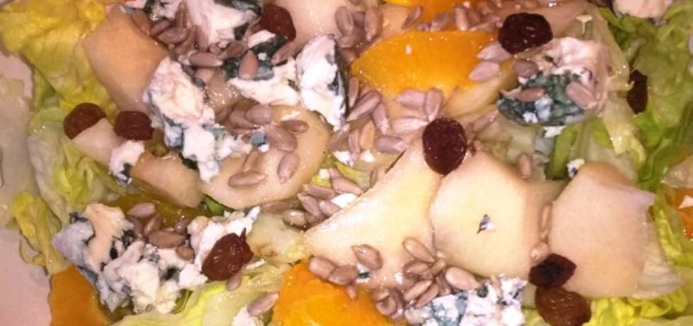 Sałatka z gruszką, pomarańczą i serem (autor: anna169hosz ...