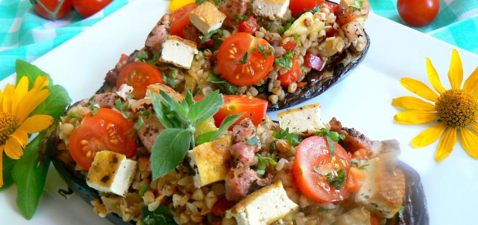 Bakłażan z grilla nadziewany kaszą gryczaną tofu i miętą (autor ...