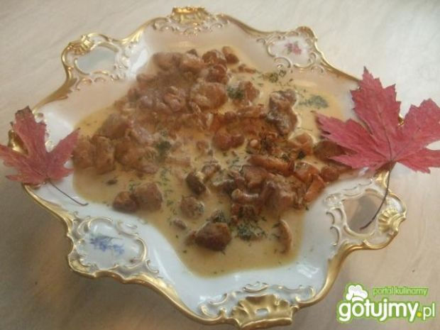 Przepis  gulaszyk jesienny z kurkami przepis