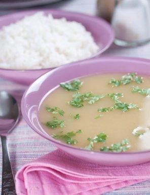 Bulion warzywny z ryżem  prosty przepis i składniki