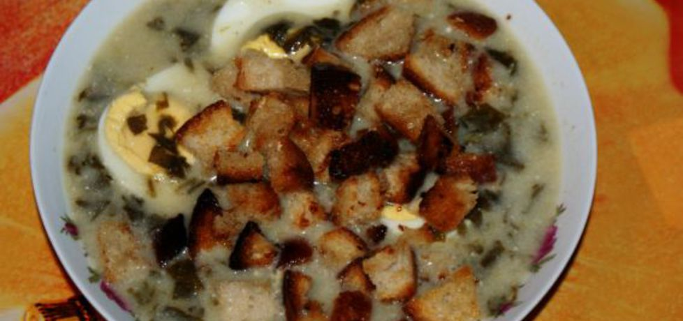 Szybka zupa szczawiowa z grzankami (autor: aleksandraa ...