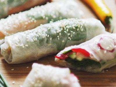 Spring rolls z boczniakami