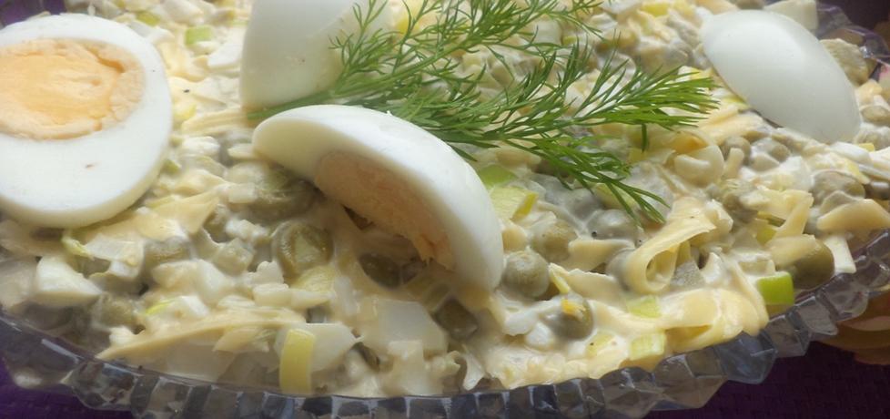 Sałatka z pora i jajek (autor: przepisy-joanny)