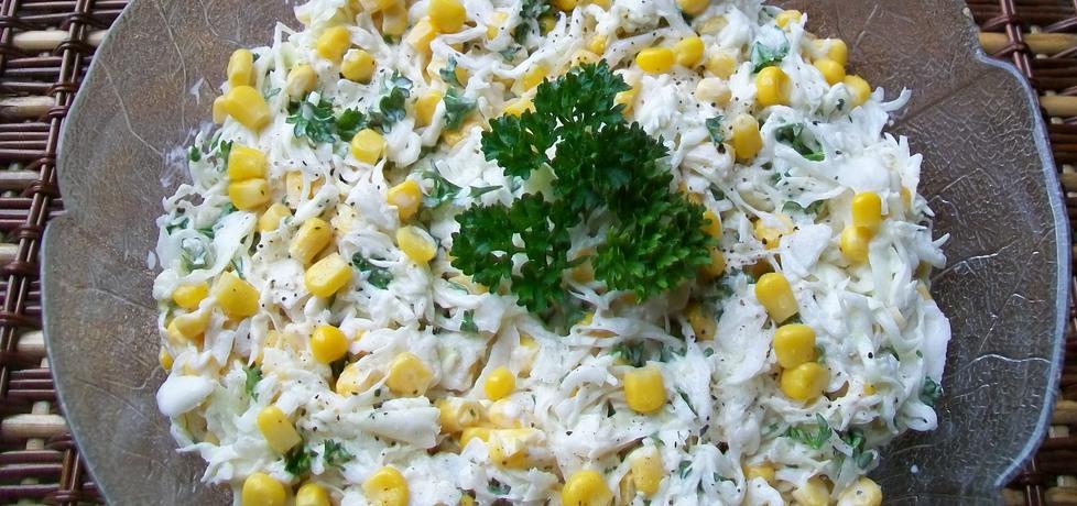 Surówka z białej kapusty z kukurydzą (autor: migotka28 ...