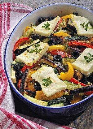 Warzywa zapiekane z fetą  prosty przepis i składniki