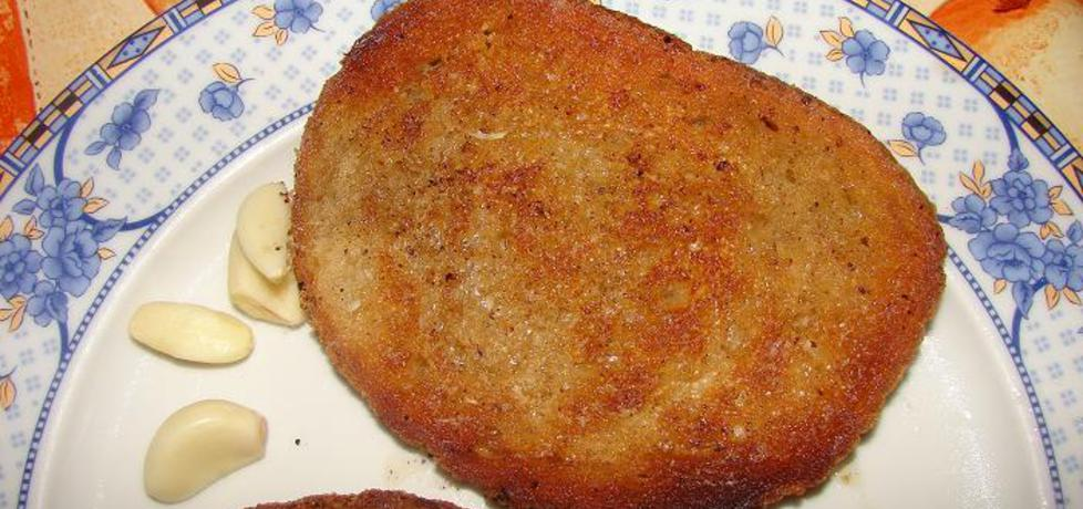 Smażony chleb na smalcu z czosnkiem (autor: jaheira11 ...