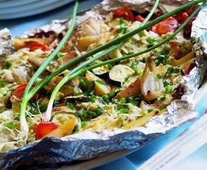 Zapiekanka z rybą i cukinią  prosty przepis i składniki