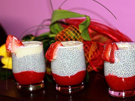 Przepis  pudding truskawkowy z nasionami chia przepis