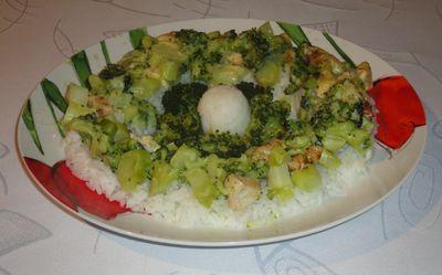 Zapiekane brokuły z piersią z kurczaka i żółtym serem ...