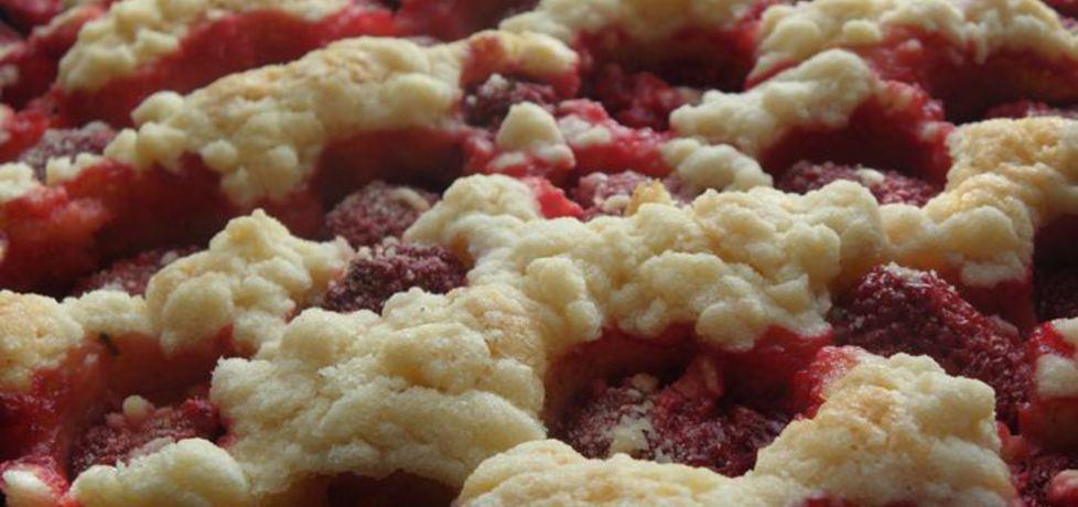 Kruche ciasto z truskawkami. (autor: ewa104)