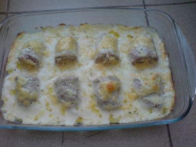 Roladki w sosie serowym