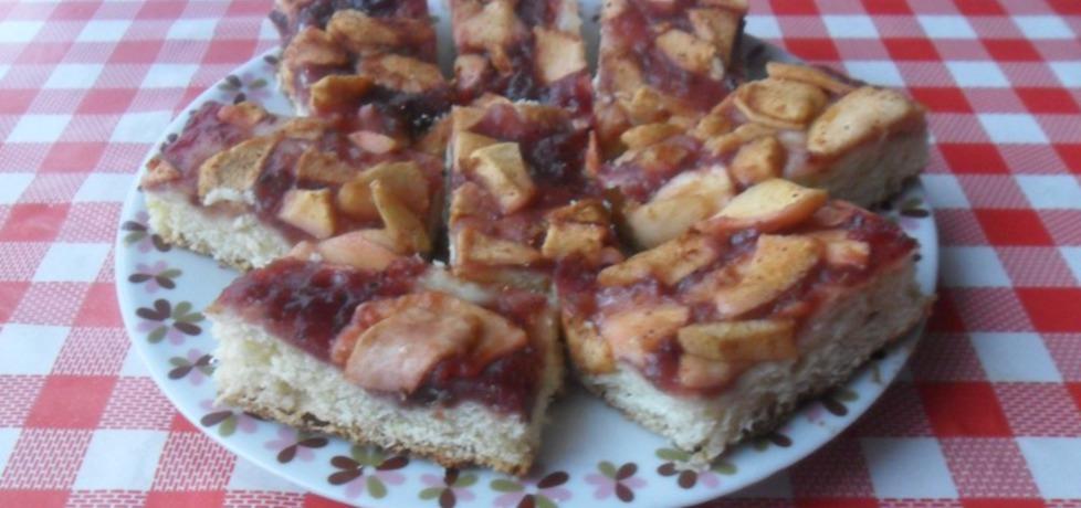Ciasto drożdżowe z konfiturą i jabłkami (autor: ikrakowianka ...