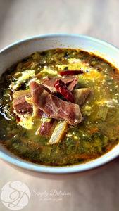 Zupa z soczewicy i szynki serrano