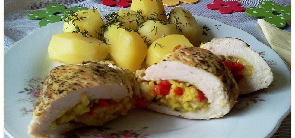 Drobiowe kieszonki z ryżem i papryką (autor: monikat83 ...