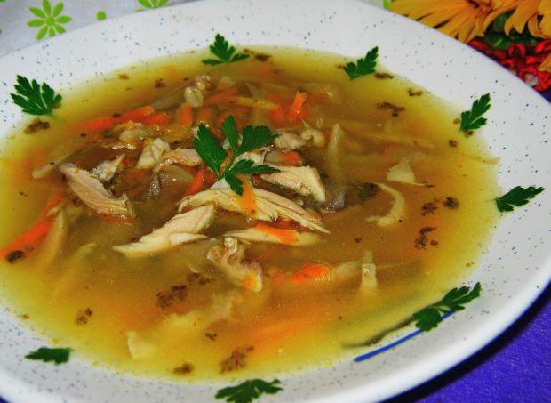 Przepis  zupa z boczniaków z kurczakiem przepis