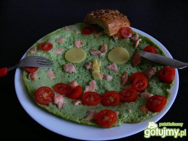 Przepis  zielony omlet z rukolą przepis