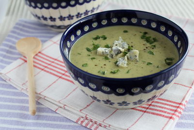 Zupa krem z cukinii z serem pleśniowym