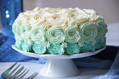 Limonkowy tort z krainy lodu (ombre rose cake)