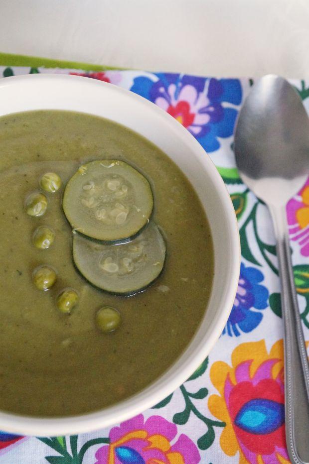 Przepis  zupa krem z zielonych warzyw przepis